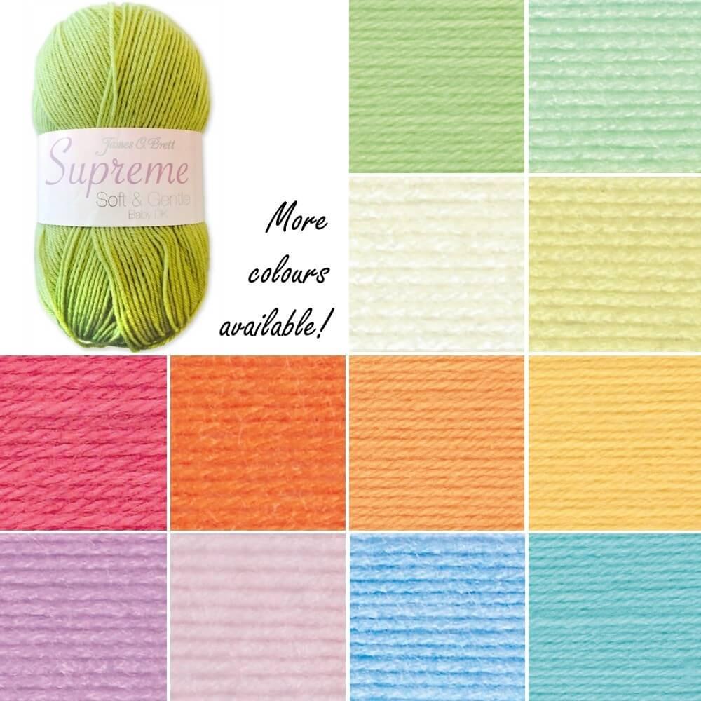 James C Brett Supreme Baby DK Acrylic Yarn Knitting Crochet Craft 100g Ball SNG1