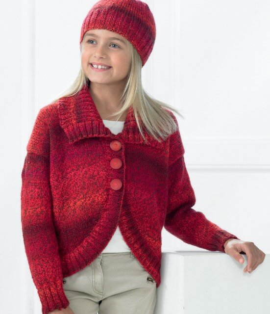 Knitting Pattern James C Brett JB210 Children's DK Cardigan & Hat