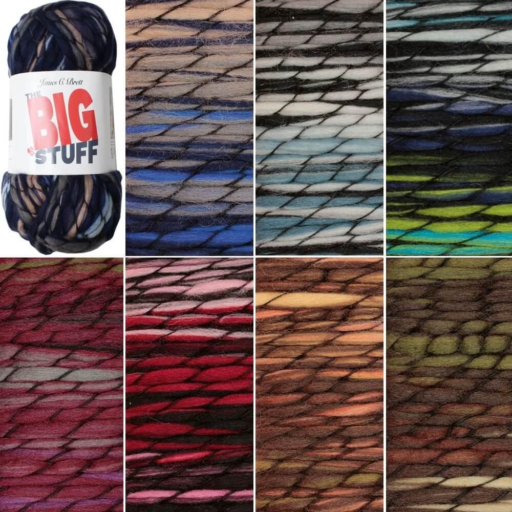 James C Brett The BIG Stuff Super Chunky Yarn Knitting Crochet Craft 200g Ball BG01