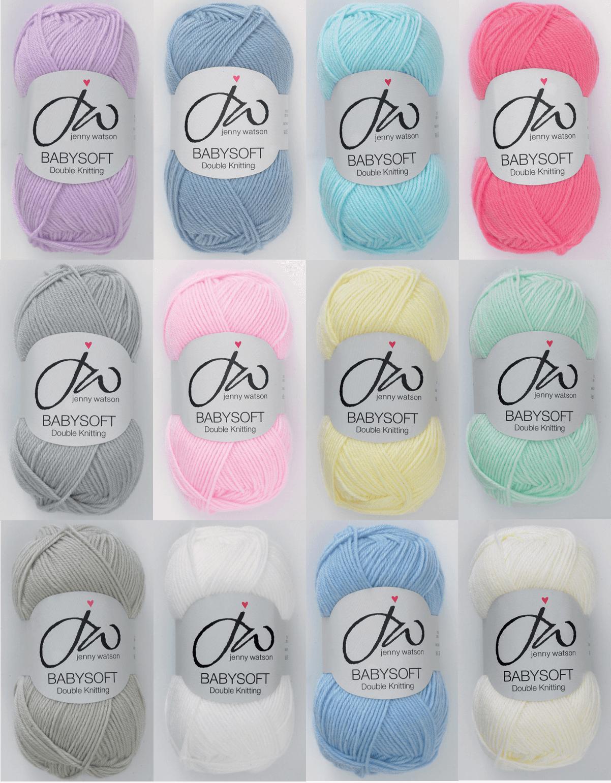 Jenny Watson Designs Babysoft DK Yarn 50g Ball Knitting Yarn Knit Craft WS1 Baby White