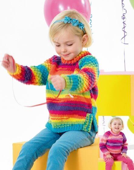 Knitting Pattern James C Brett JB340 Children's Chunky Jumper