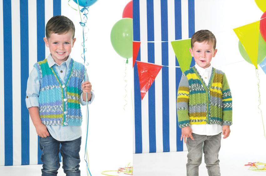 Knitting Pattern James C Brett JB396 Children's DK Cardigan & Vest