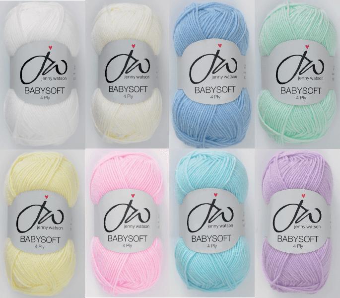 Jenny Watson Designs Babysoft 4 Ply Yarn 50g Ball Knitting Yarn Knit Craft WY1 Baby White