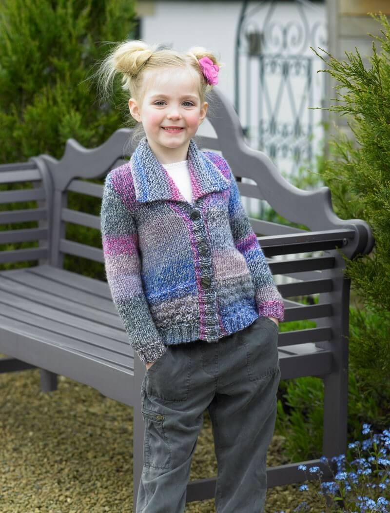 Knitting Pattern James C Brett JB455 Children's Chunky Cardigan