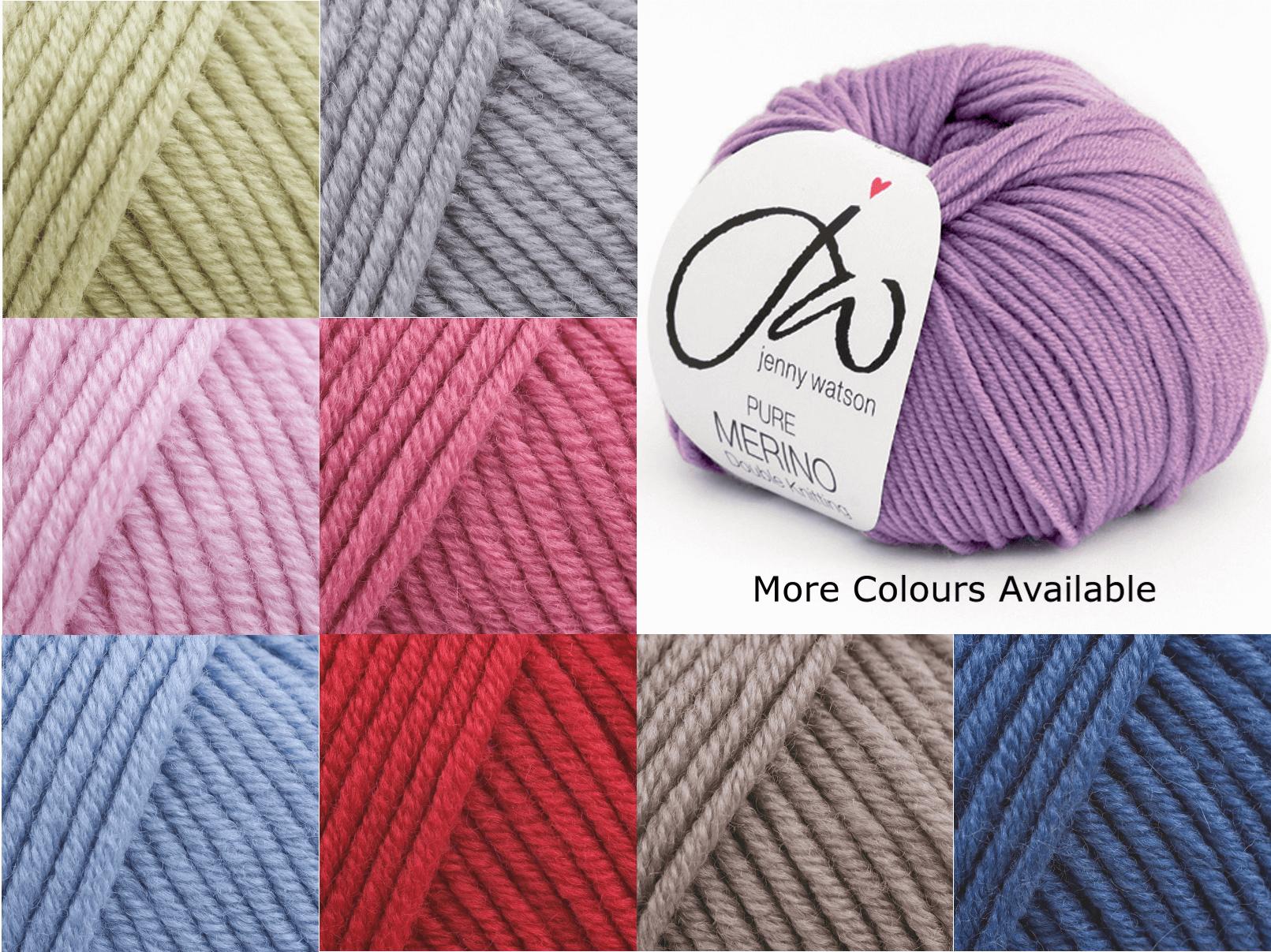 Jenny Watson Designs Pure Merino DK Wool 50g Ball Knitting Yarn Knit Craft WM2 Soft Pink