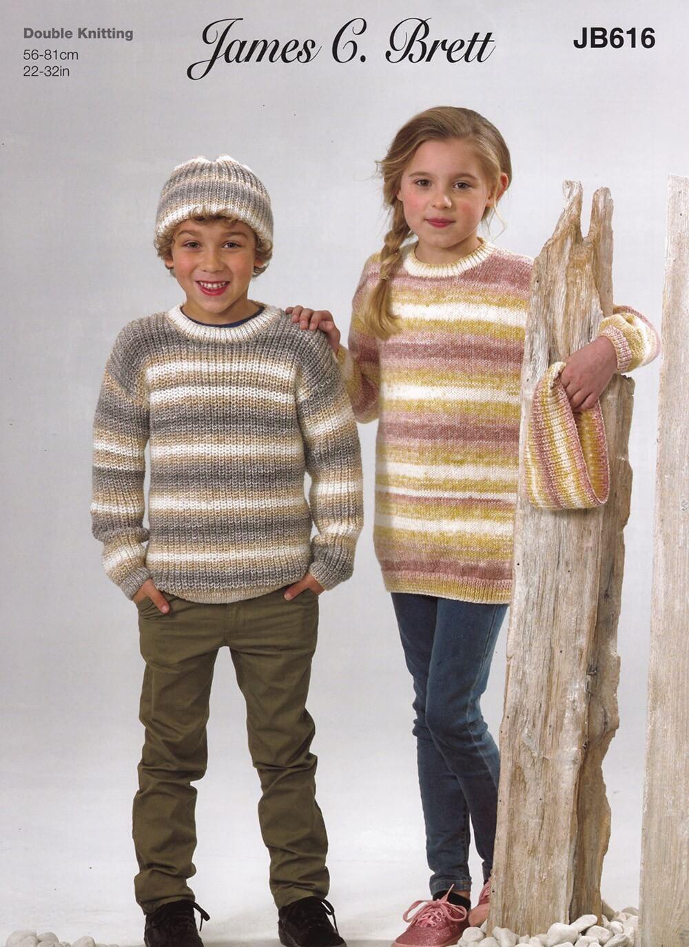 Knitting Pattern James C Brett JB616 Children's DK Jumper & Hat