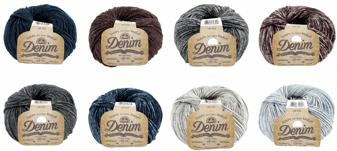 DMC Natura Denim Cotton 50g Ball Crochet Yarn Crocheting Craft 02 Squid Ink