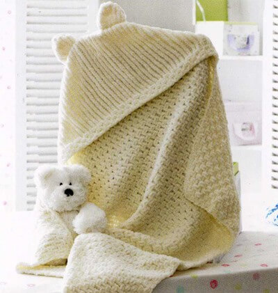 Knitting Pattern James C Brett JB174 Baby Chunky Blanket