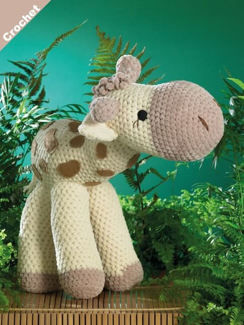 Crochet Pattern James C Brett JB401 Chunky Giraffe Toy