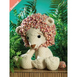 Crochet Pattern James C Brett JB402 Chunky Lion Stuffed Toy