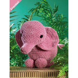 Crochet Pattern James C Brett JB403 Chunky Elephant Stuffed Toy