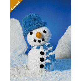 Crochet Pattern James C Brett JB406 Chunky Snowman Stuffed Toy