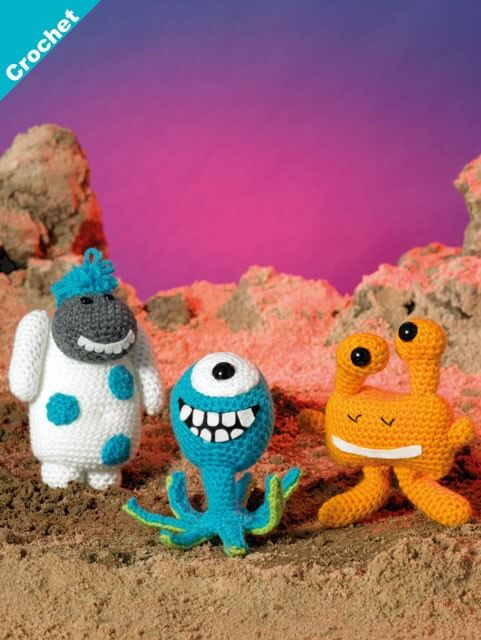 Crochet Pattern James C Brett JB411 Double Knitting Amigurumi Monsters