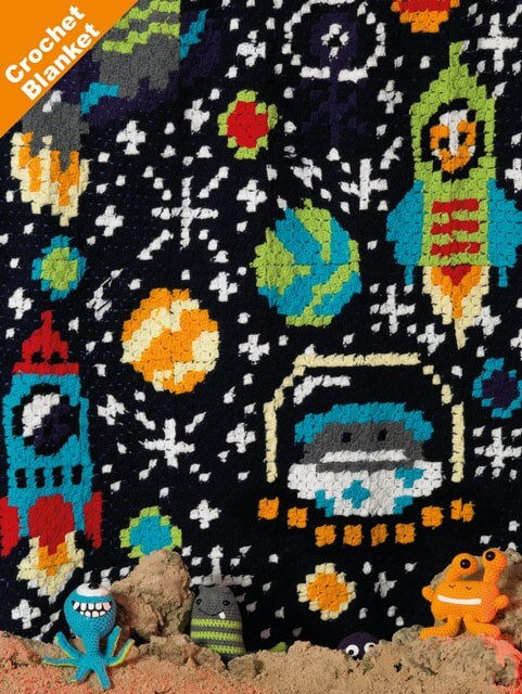Crochet Pattern James C Brett JB412 Double Knitting Space Blanket