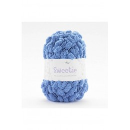 Sirdar Snuggly Sweetie Pom Pom Yarn Knitting Crochet Crafts 200g Ball 417 Denim Blue
