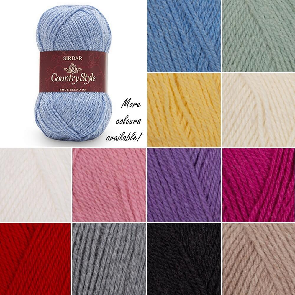 Sirdar Country Style DK Double Knitting Knit Crochet Crafts 50g Ball Smokey Stone 389