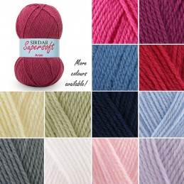 Sirdar Supersoft Aran Baby Acrylic Knit Knitting Crochet Crafts 100g Ball