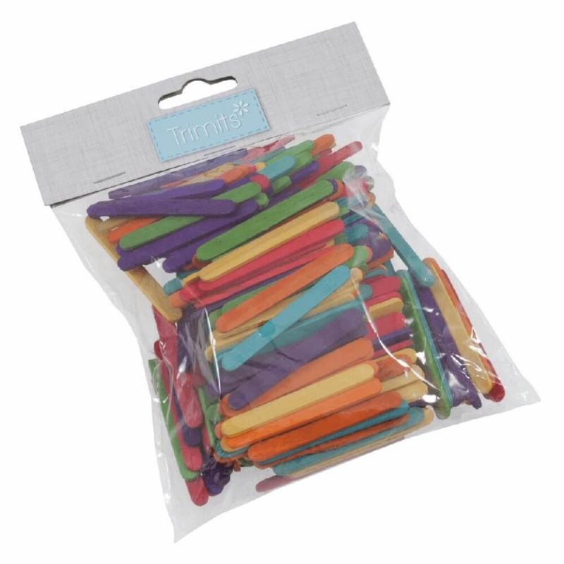 Pack 6 Wooden Lollipop Sticks Craft Factory