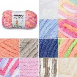 Bernat Supersoft Super Chunky Baby Blanket Polyester Knit Knitting Crochet Crafts 100g Ball