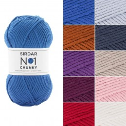 Sirdar No. 1 Chunky Yarn Supersoft Knitting Knit Crochet Crafts 100g Ball