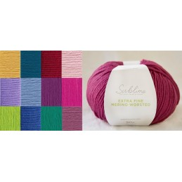 Sirdar Sublime Extra Fine Merino Worsted 50g Ball Wool