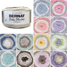 Bernat Supersoft Super Chunky Baby Blanket Stripes Polyester Knit Knitting Crochet Crafts 300g Ball