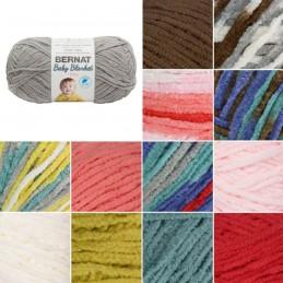 Bernat Supersoft Baby Blanket Tiny Light Aran Yarn Polyester Knit Knitting Crochet Crafts 100g Ball