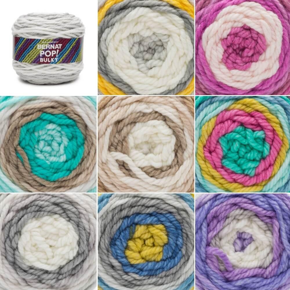 Fabulous Fuchsia Bernat Bulky Pop! Super Chunky Yarn Acrylic Knit Knitting Crochet Crafts 280g Ball