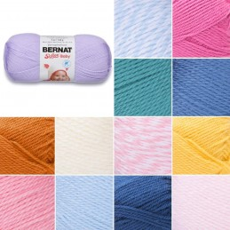 Bernat Bulky Baby Softee Solid DK Double Knitting Yarn Acrylic 140g Ball