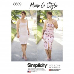Simplicity Sewing Pattern 8639 Women's Mimi G Knit Dress in Two Lengths