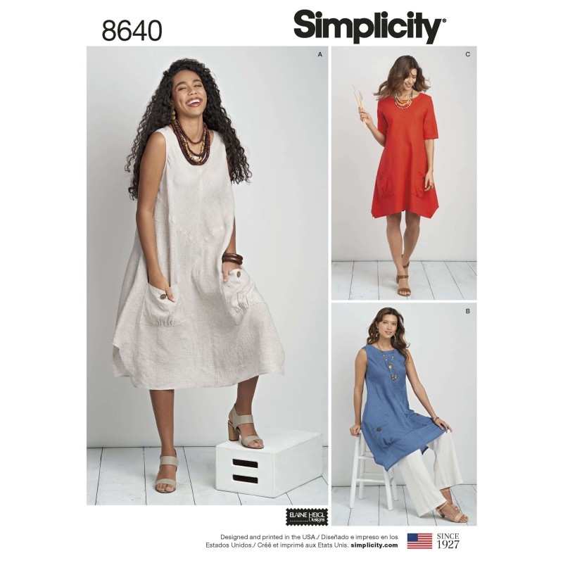 Simplicity Sewing Pattern 8640 Women's Dress or Tunic Plus Size Available