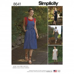 Simplicity Sewing Pattern 8641 Women's Jumper Dress