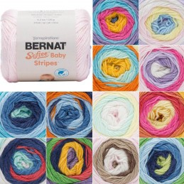 Bernat Baby Softee Stripes DK Double Knitting Yarn Acrylic 120g Ball