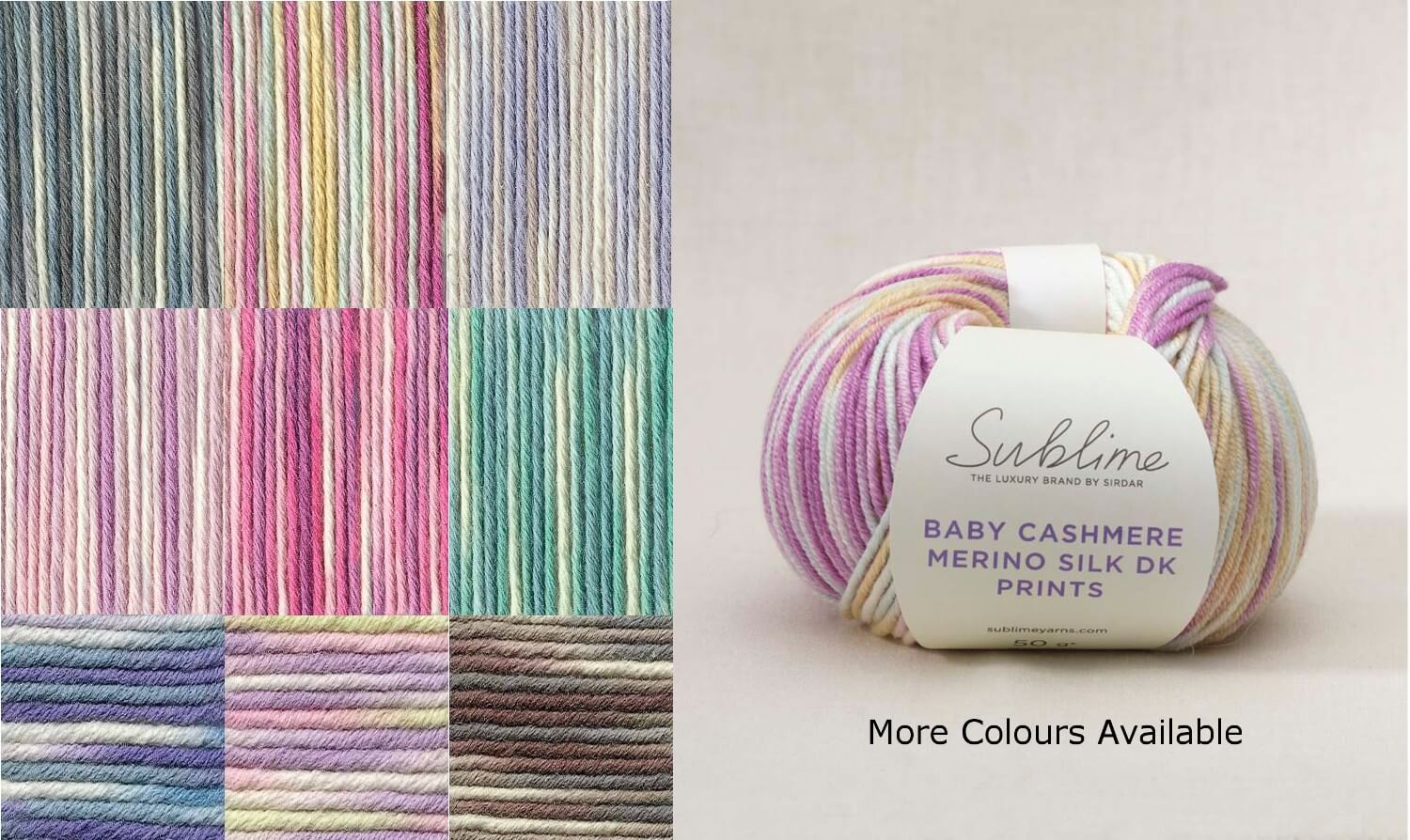 Sirdar Sublime Baby Cashmere Merino Silk Prints DK 50g Ball Knit Craft Yarn 567 Under The Sea