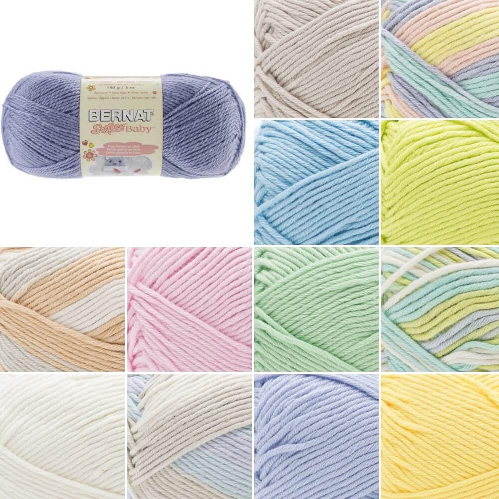 Pale Periwinkle Bernat Cotton Acrylic Baby Softee DK Double Knitting Yarn 120g Ball
