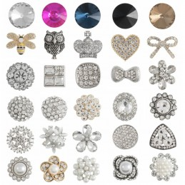1 x Diamante Loose Shank Back Button Buttons Sparkle Collection