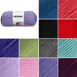 Bernat Satin Acrylic Aran Yarn Knit Knitting Crochet Crafts 100g Ball