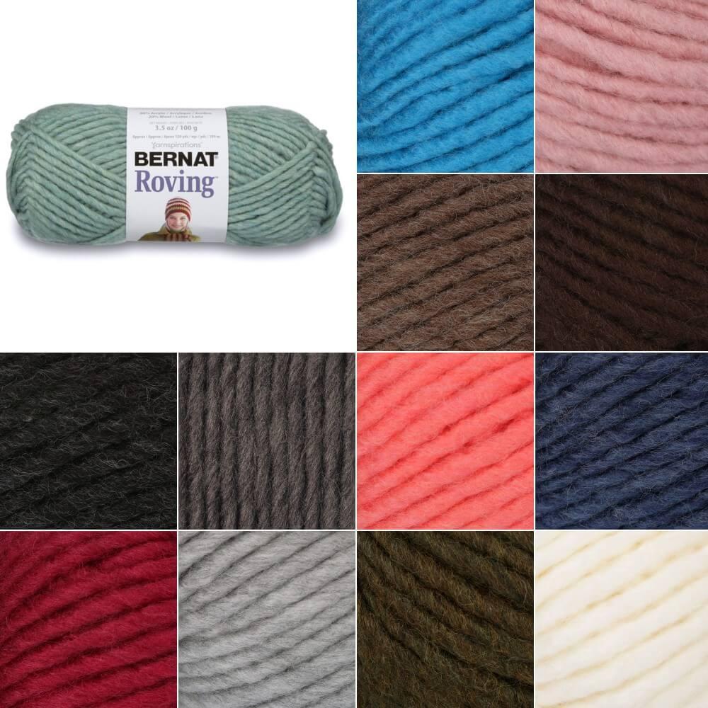Putty Bernat Roving Chunky Yarn Acrylic Wool Knit Knitting Crochet Crafts 100g Ball