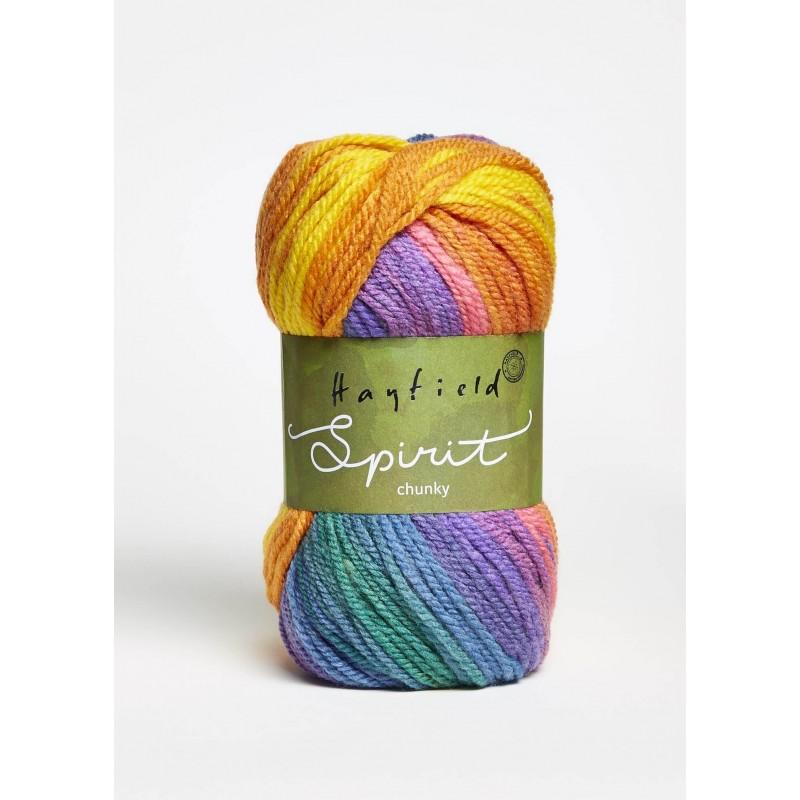 Sirdar Hayfield Spirit Chunky 20% Wool 80% Acrylic 100g Ball Knit Craft Yarn 400 Zest