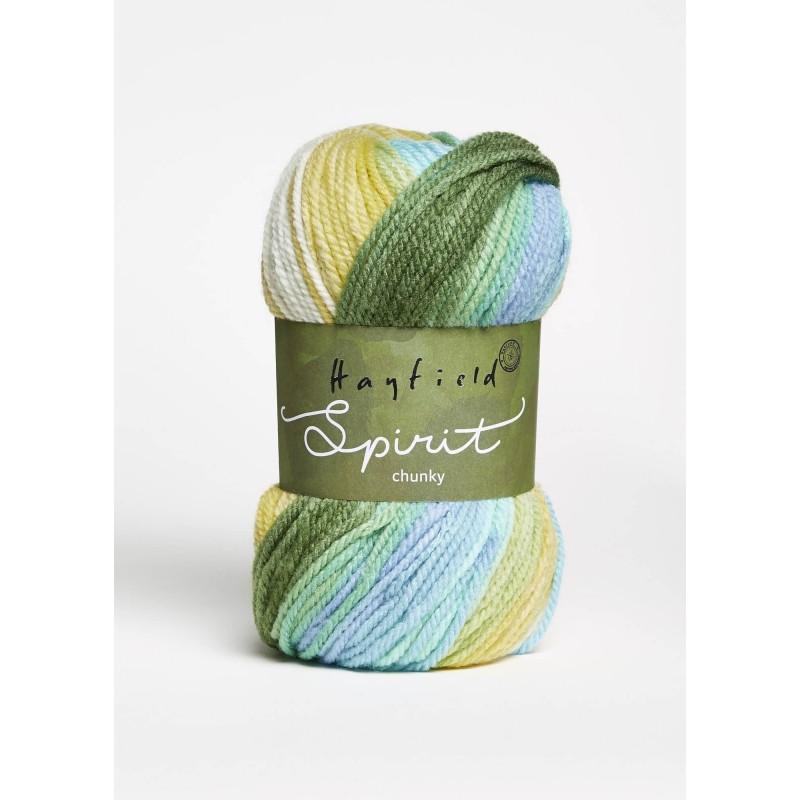 Sirdar Hayfield Spirit Chunky 20% Wool 80% Acrylic 100g Ball Knit Craft Yarn 409 Escape