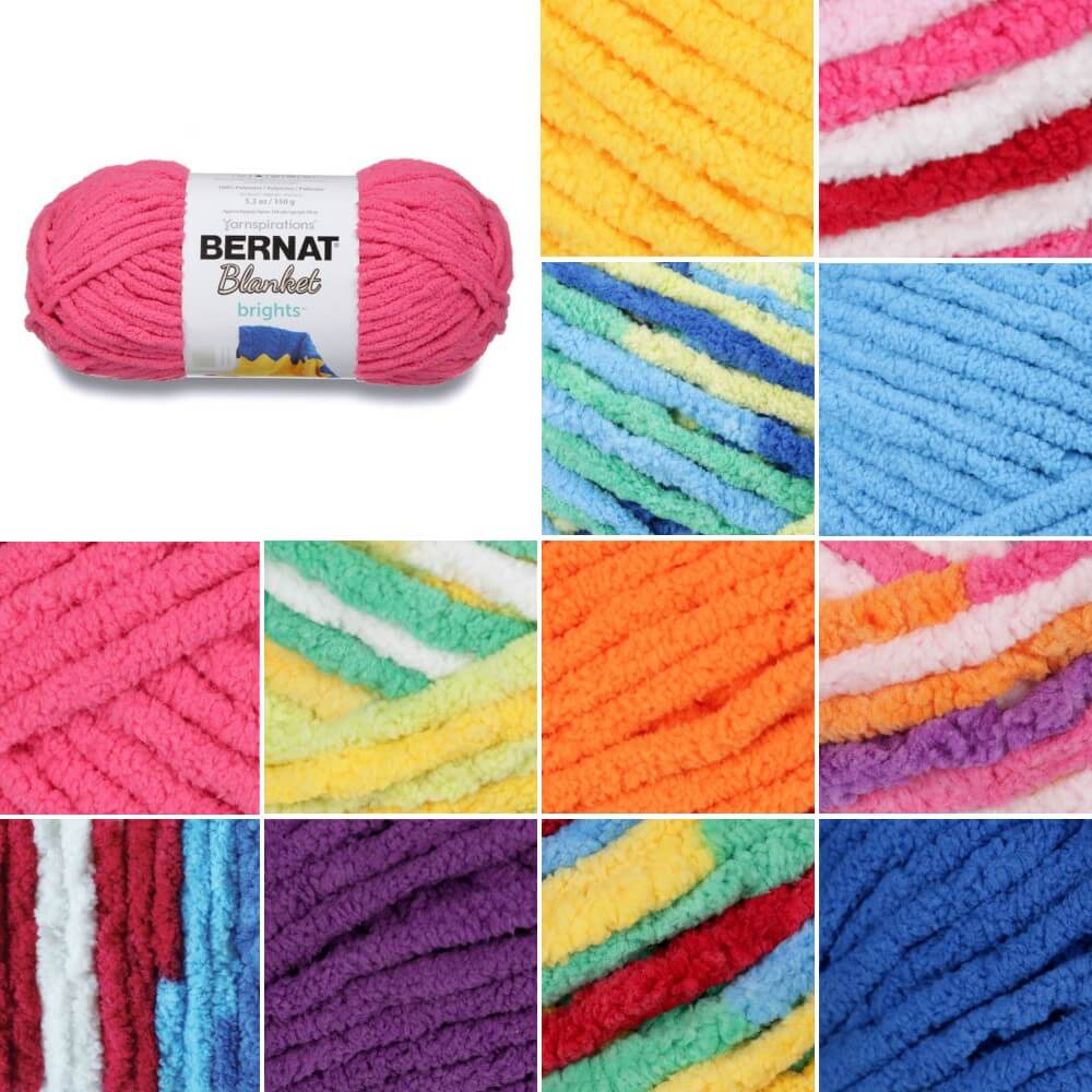 Busy Blue Bernat Blanket Brights Super Chunky Yarn Polyester Knit Knitting Crochet Crafts 150g Ball