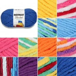 Bernat Blanket Brights Super Chunky Yarn Polyester Knit Knitting Crochet Crafts 300g Ball