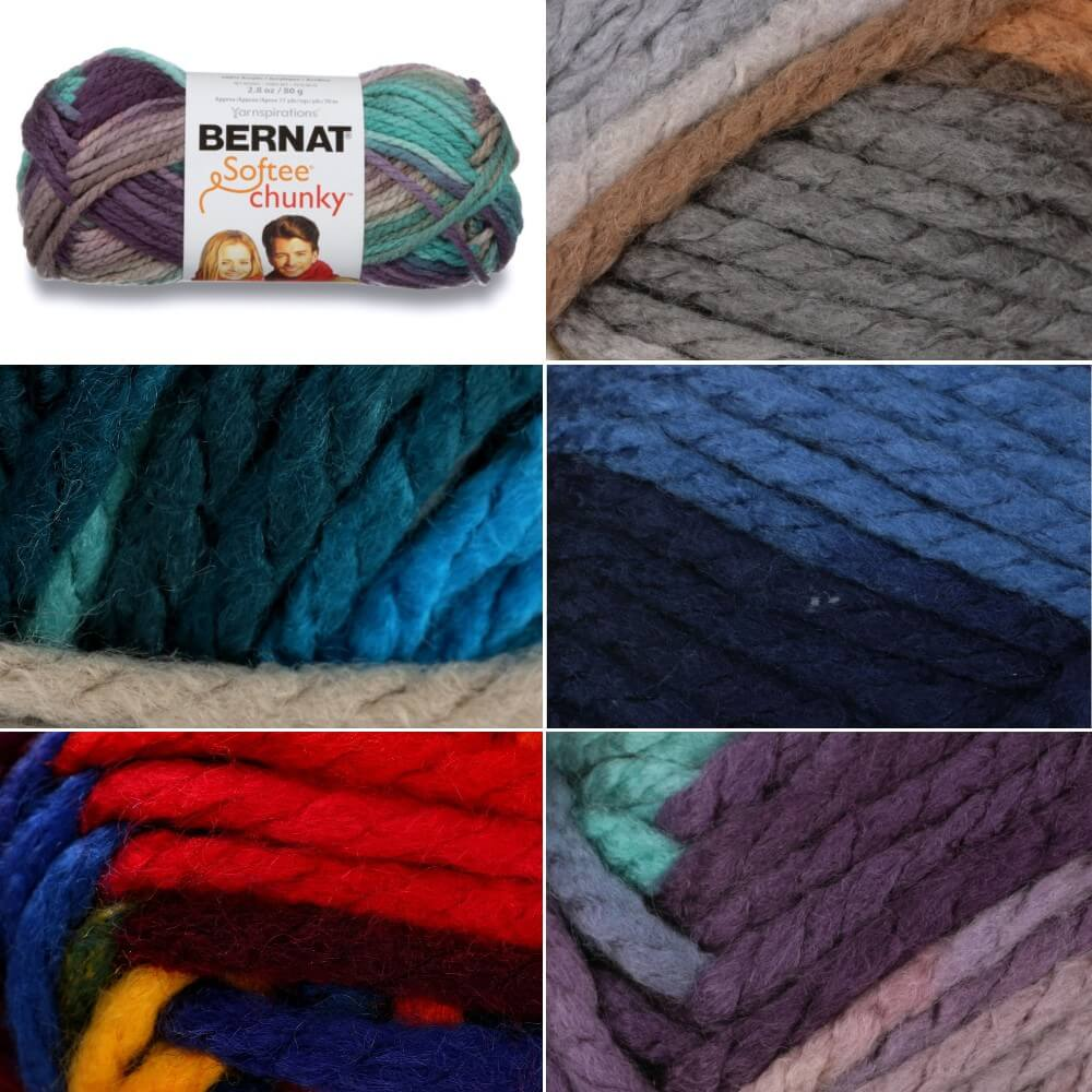 Shadow Ombre Bernat Softee Super Chunky Ombre Yarn Acrylic Knit Knitting Crochet Crafts 80g Ball
