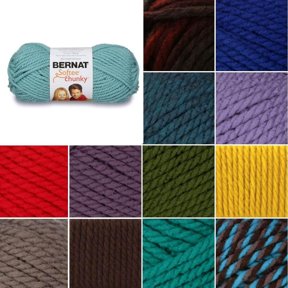 Baby Pink Bernat Softee Super Chunky Solid Yarn Acrylic Knit Knitting Crochet Crafts 100g Ball