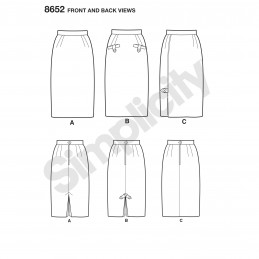Simplicity Sewing Pattern 8652 Vintage Inspired Pencil Skirt