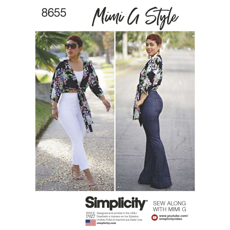 Simplicity Sewing Pattern 8655  Mimi G High Waisted Trousers and Tie Top
