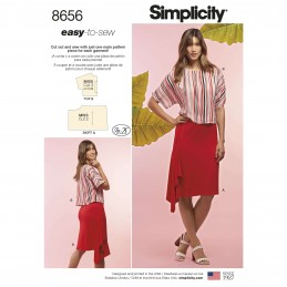 Simplicity Sewing Pattern 8656 Learn to Sew  Women's Knit Skirt and Top