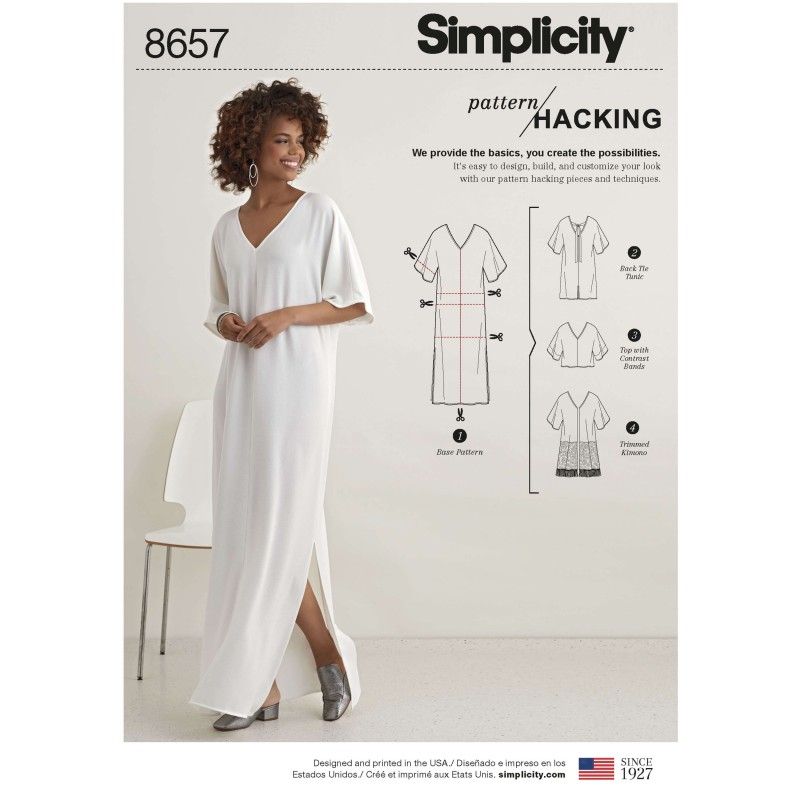 Simplicity Sewing Pattern 8657 Women's Caftan with Options for Design Hacking