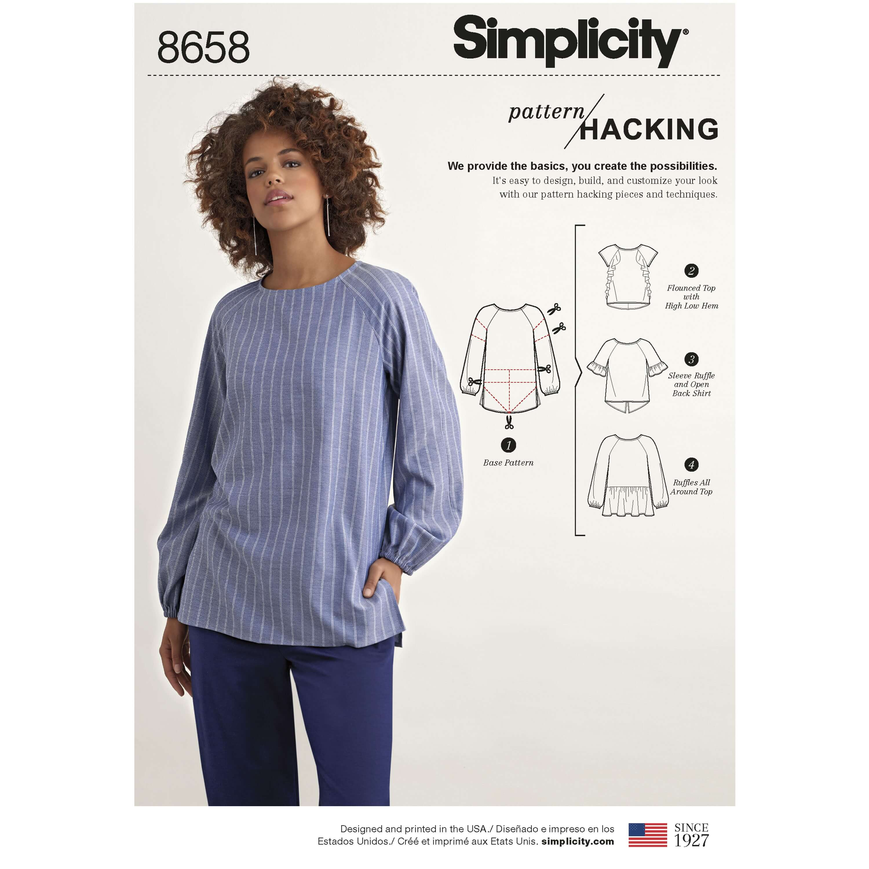 Simplicity Sewing Pattern 8658 Women's Top  with Options for Design Hacking