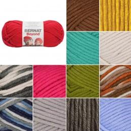 Bernat Beyond Super Chunky Yarn Acrylic Nylon Knit Knitting Crochet Crafts 120g Ball